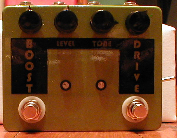 An Early double pedal from back when I used to label them with clear laser labels. Basically a Tube Screamer and a Boost!