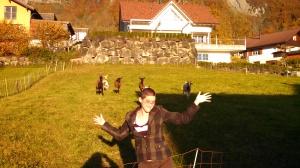 Goats love Emma!